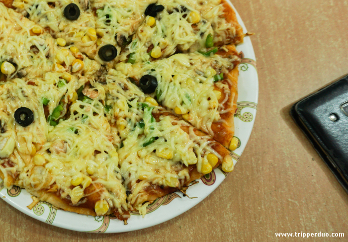 Pizza loaded with Kalimpong Cheese